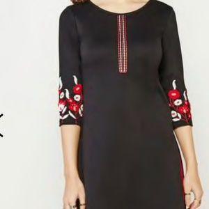 Anita Dongre Global Desi Black Embroidered Kurta